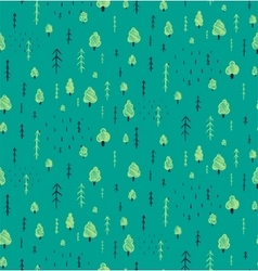 Forest Hand Drawn Seamless Pattern Background vector image vector image