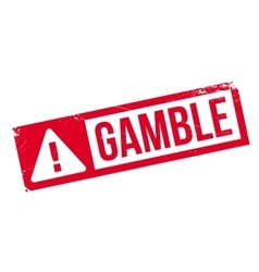 Gamble rubber stamp vector image