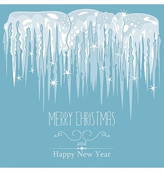 Icicles Background vector image