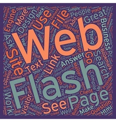 Is flash appropriate in a business web site text vector