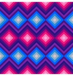 Modern crystal zig zag and rhombus seamless vector image vector image