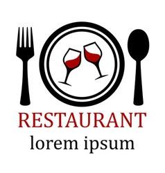 Restaurant menu symbol vector