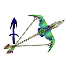 Sagittarius horoscope vector image vector image