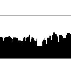 Silhouette of black white buildings vector