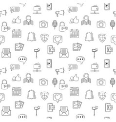 Social media icons seamless background internet vector
