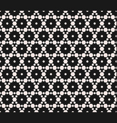 subtle geometric seamless pattern with hexagons vector image