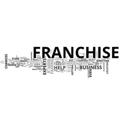 What to do if your franchise fails text word vector