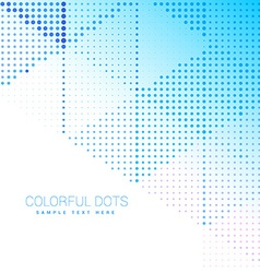 Abstract halftone circles background vector