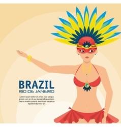 Poster brazil rio de janeiro garota presenting vector