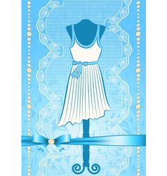 Fashionable dress vector image