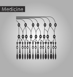 Black and white style icon of structure retina vector