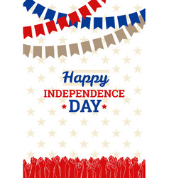 Independence day in usa july 4th vector