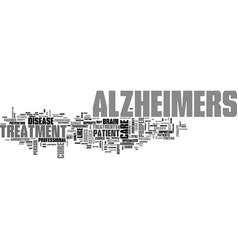 Alzheimers test text word cloud concept vector