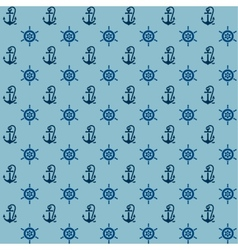 Seamless patterns anchors and steering wheel vector