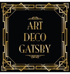 Art deco gatsby square vector