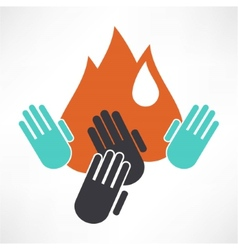an isolated hand icon vector image