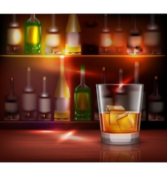 Bar Counter Background vector image