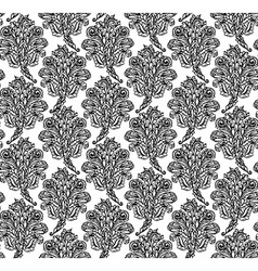 Floral seamless pattern in renaissance style vector