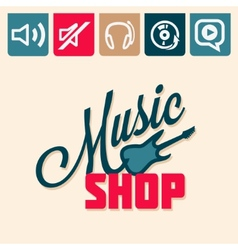 Music shop vector