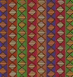 Ethnic geometric seamless pattern vector image
