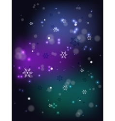 Christmas snowfall on a dark base eps10 vector