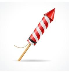 Firework red rocket vector image