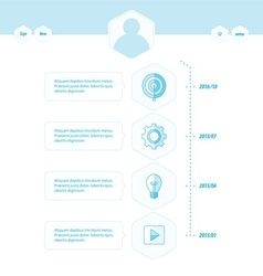 Timeline template blue style vector
