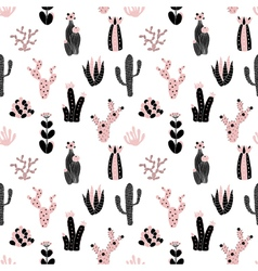 black and pink pattern vector image