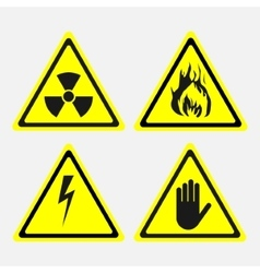 Labels set biological threats radiation vector
