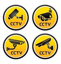 Security camera cctv signs vector