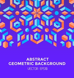 abstract geometric blue orange red jewels violet vector image vector image