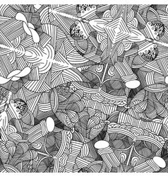 Abstract seamless pattern with hand drawn doodle vector