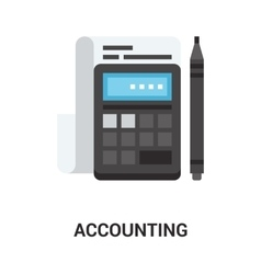 Accounting icon concept vector