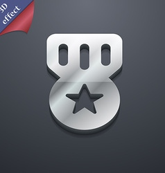 Award Medal of Honor icon symbol 3D style Trendy vector image
