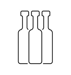 Black thin line bottles vector