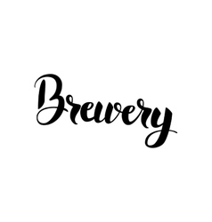 Brewery lettering vector