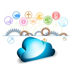 Cloud computing on a white background vector