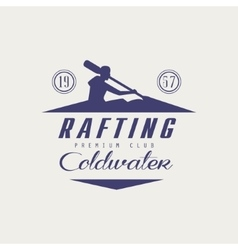 Coldwater rafting emblem design vector