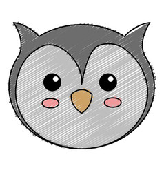 Cute and tender owl vector