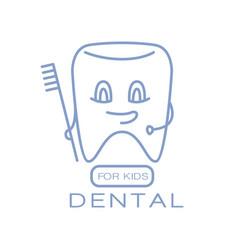 Dental for kids logo symbol vector