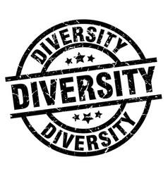 Diversity round grunge black stamp vector
