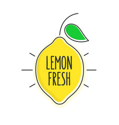 Flat style minimal trendy lemon bubble price tag vector
