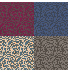 Floral pattern 4 color vector image vector image