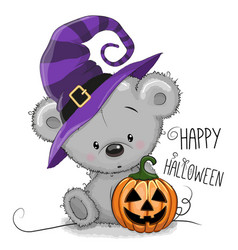 Halloween of cartoon bear vector