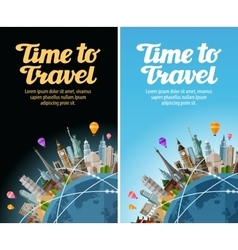 Landmarks on the globe Travel to world Journey vector image