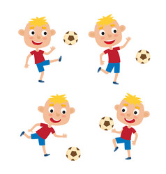 little blonde boys in shirt vector image vector image