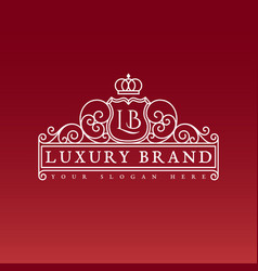 luxury brand label vector image vector image