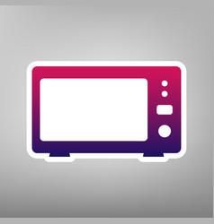 Microwave sign purple vector