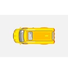 Minivan top view vector