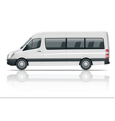 realistic white van template isolated passenger vector image